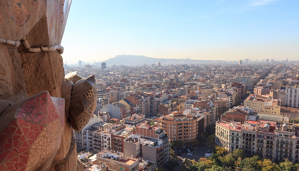 vue depuis la Sagrada Familia